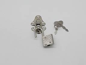 Замочек и колодка. Цвет никель., фото 3