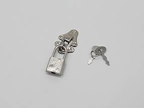 Замочек и колодка. Цвет никель., фото 2
