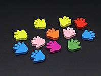 Заготовки для декупажа. Рука. Цвет микс. 20х20мм