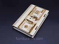 Шкатулка-купюрница из фанеры. $$$ ДОЛЛАР $$$. 12х17.5см