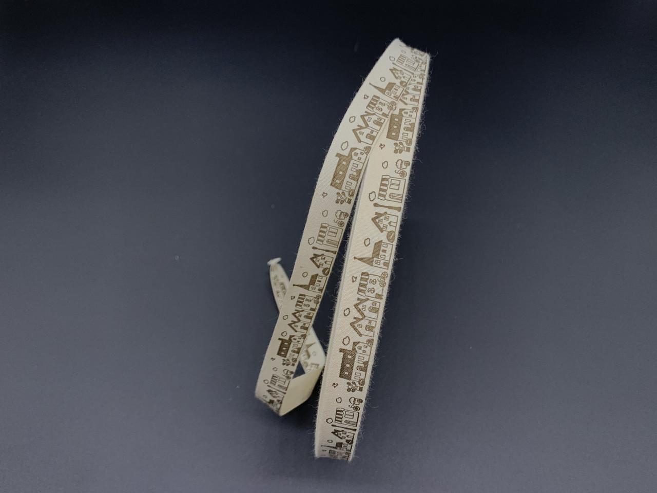Стрічка декоративна з візерунком. Будинку. 1,5 см