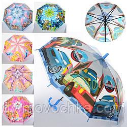 Зонтик детский MK 4051 длина 66 см, трость 61, диаметр 83 см, 6 видов