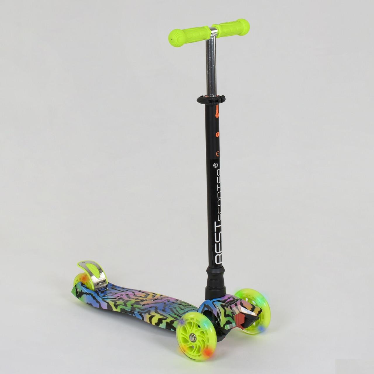 Самокат дитячий триколісний Best Scooter, 4 світло. колеса PU, 1342