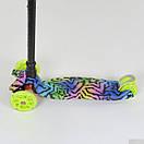 Самокат дитячий триколісний Best Scooter, 4 світло. колеса PU, 1342, фото 3