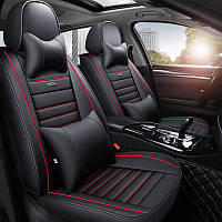 Чехлы кожаные автомобильные для сидений. Комплект Для всех марок авто,BMW AUDI TOYOTA LANOS CHEVROLET