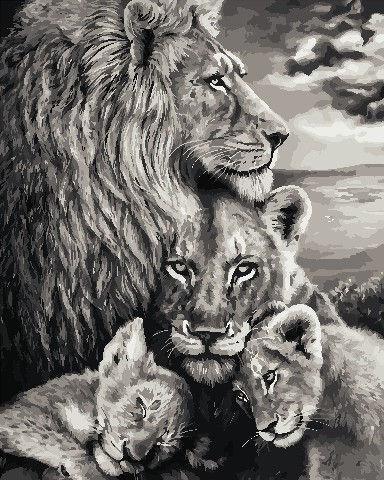 Картина по номерам Преданность львов, 40x50 см Art Story
