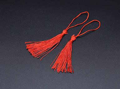 Шнурок подвеска. Цвет красный. 12см