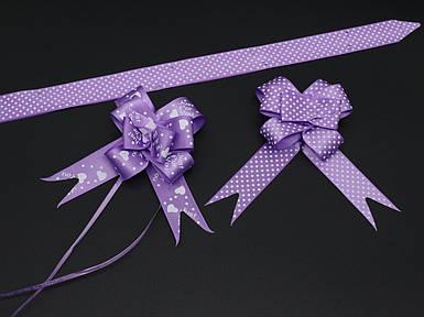 Подарункові банти на затягуваннях. Колір фіолет.