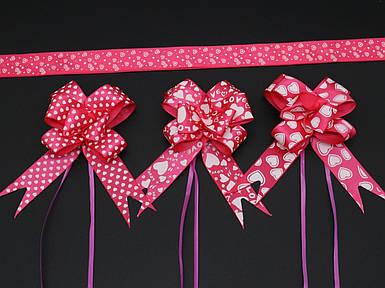Подарункові банти на затягуваннях. Колір темно-рожевий.