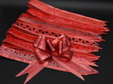 Подарункові банти на затягуваннях. Колір червоний.