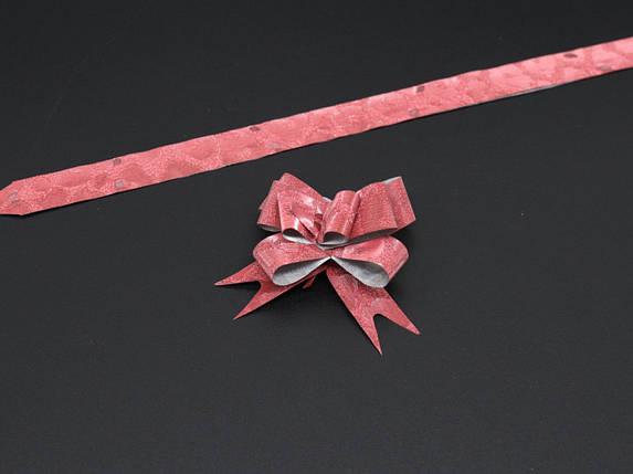 Подарункові банти на затягуваннях. Колір червоний., фото 2