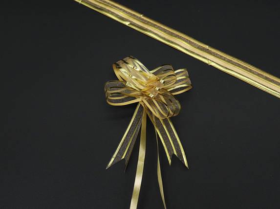 Подарочные банты на затяжках. Цвет золотистый., фото 2