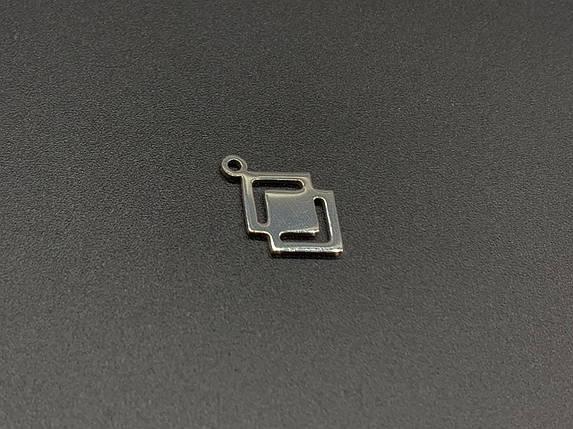 Підвіски з нержавіючої сталі. 18х11мм, фото 2