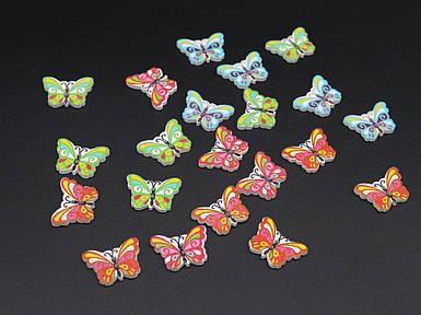 Дерев'яна заготовка. Метелик. Колір мікс. 24х17мм