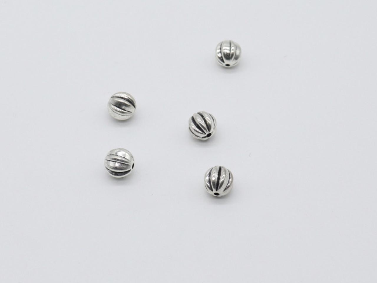 Металлические бусины. Цвет античное серебро. 9мм