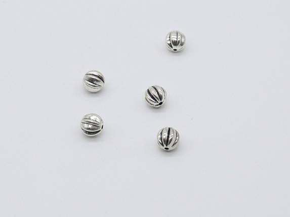 Металлические бусины. Цвет античное серебро. 9мм, фото 2