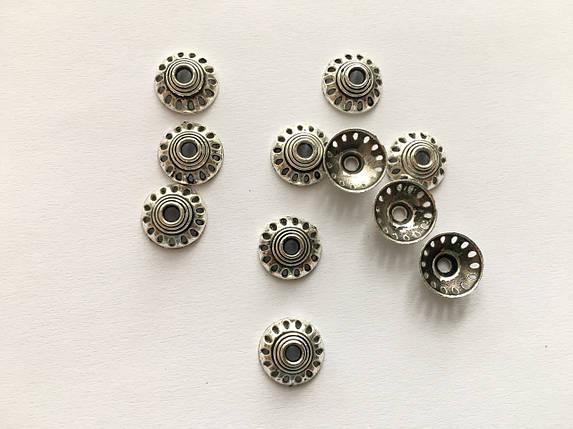 Обниматель для браслетов металлические. Цвет античное серебро. 11мм, фото 2
