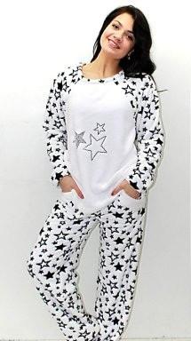 Женская махровая стильная пижама ― красивая и уютная женская домашняя одежда  для дома. Опт, fdde097a909