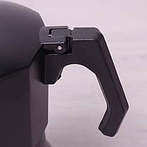 Чёрная кофеварка гейзерная 450 мл из алюминия с широким индукционным дном Kamille, фото 3