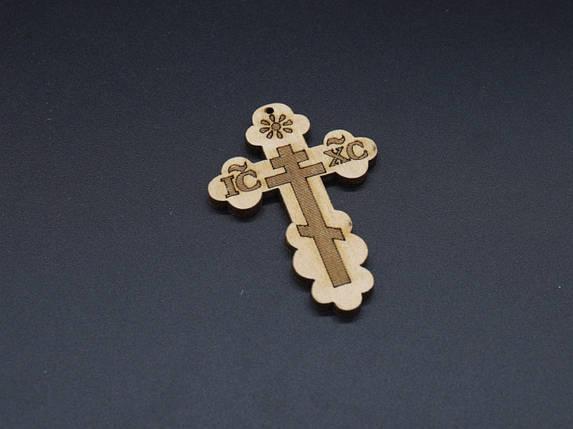 Крестик деревянный,большой. 59х42мм, фото 2