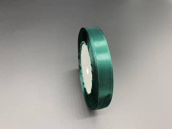 Лента атласная. Цвет №73 Зеленый. 1,4см 23м/рул., фото 2