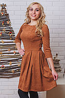 Платье женское с узором беж