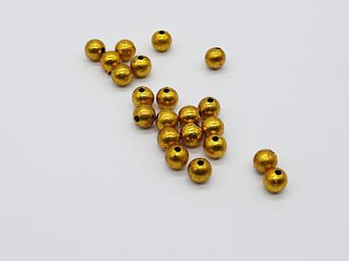 Декоративні кульки. Колір золото. 10х10мм