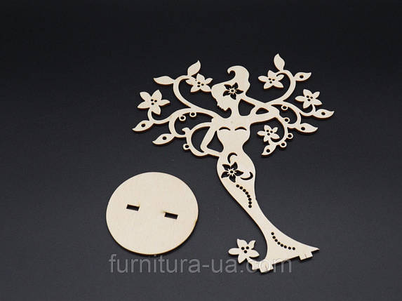 Деревянные заготовки. Дерево для декупажа. 20х17см, фото 2