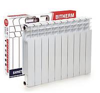 Биметаллический радиатор 10 секций BITHERM 100BI-500 батарея отопления