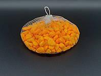 Камушки декоративные. Цвет оранжевый. 0.5кг