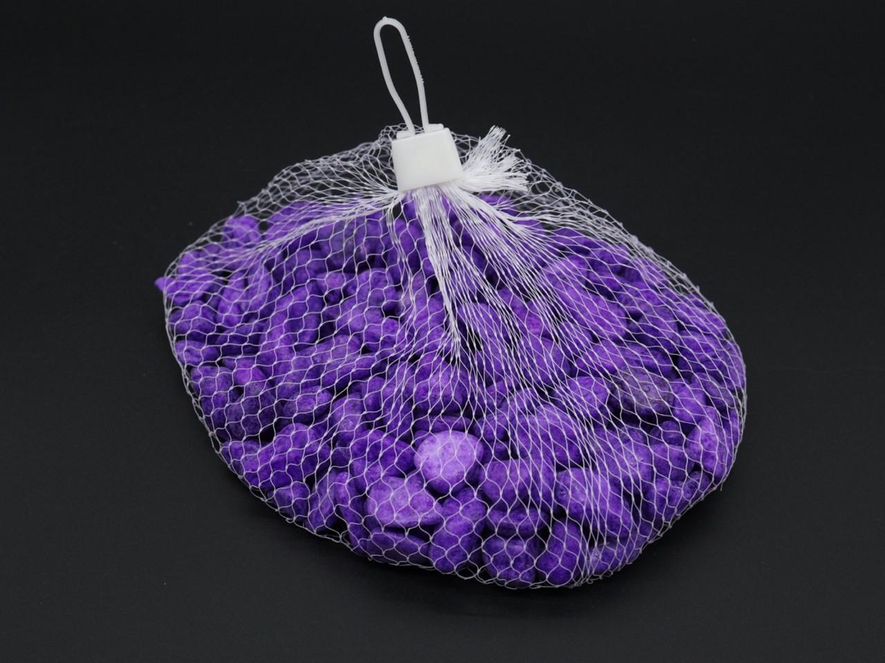 Камушки декоративные. Цвет фиолетовый. 0.5кг