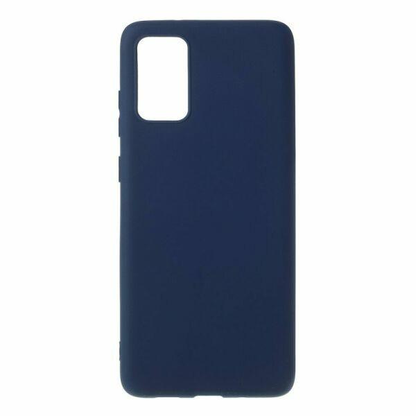 Чехол Soft Touch для Samsung Galaxy S20 Plus (G985) силикон бампер темно-синий