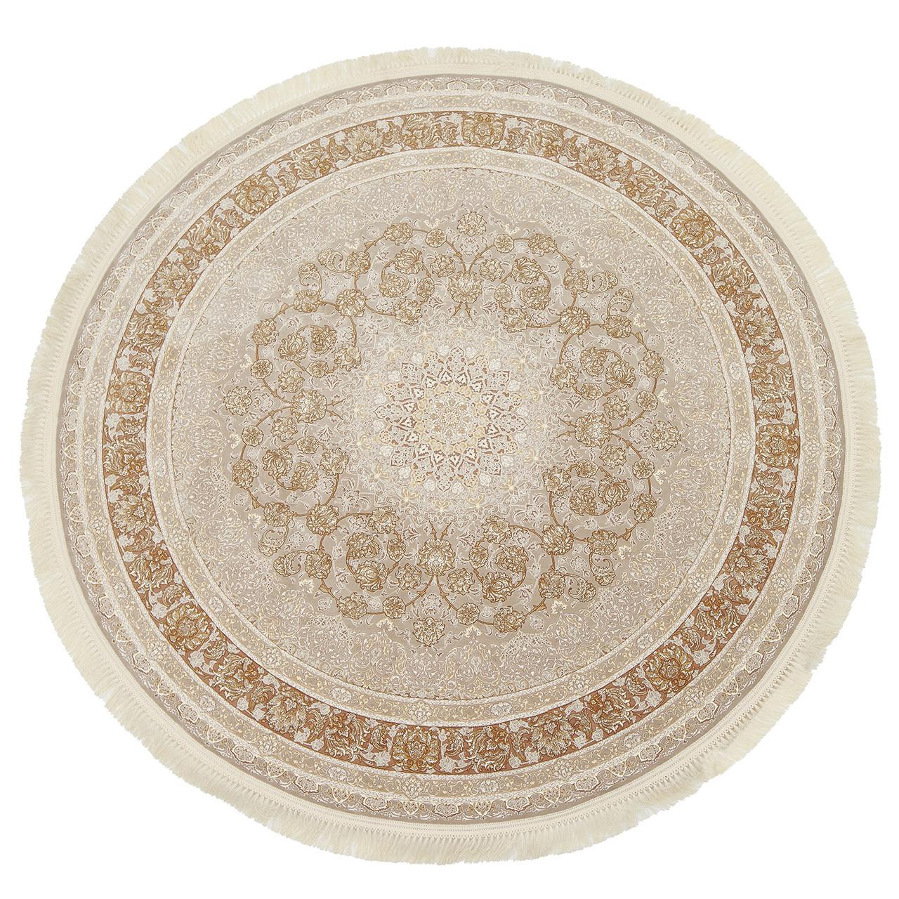 Коврик восточная классика XYPPEM G142 1,5Х1,5 КРЕМОВЫЙ круг