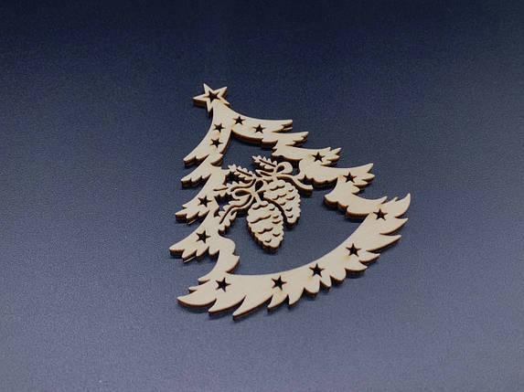 Дерев'яна новорічна іграшка. Фанера. 9х9см, фото 2