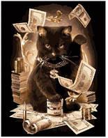 """Картина по номерам  ТМ """"Brushme"""", Животные """"Денежный кот"""" 40*50 см, на подрамнике"""