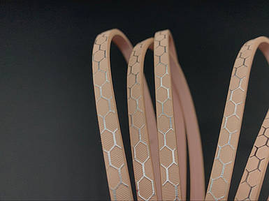 Шкіряні шнурки. Колір рожевий. 120см 5мм