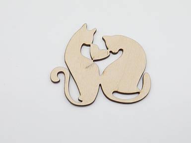 Дерев'яні заготовки з фанери. LOVE кішки.