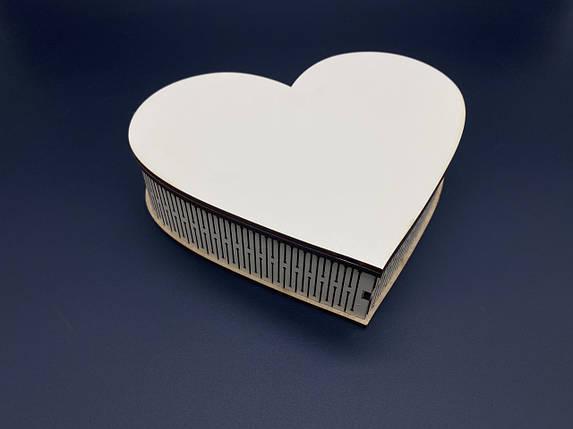 Шкатулка-заготовка из МДФ Белая. Сердце. 17,5х14см, фото 2