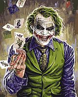 """Картина по номерам  ТМ """"Brushme"""", Киногерой """"Джокер"""" 40*50 см, на подрамнике"""