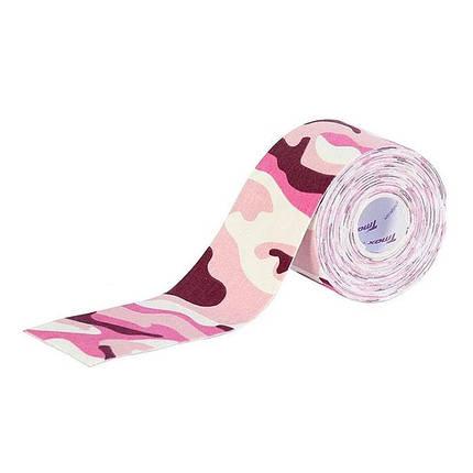 Тейп для фиксации сенсора Фристайл Либре розовый-хаки, фото 2