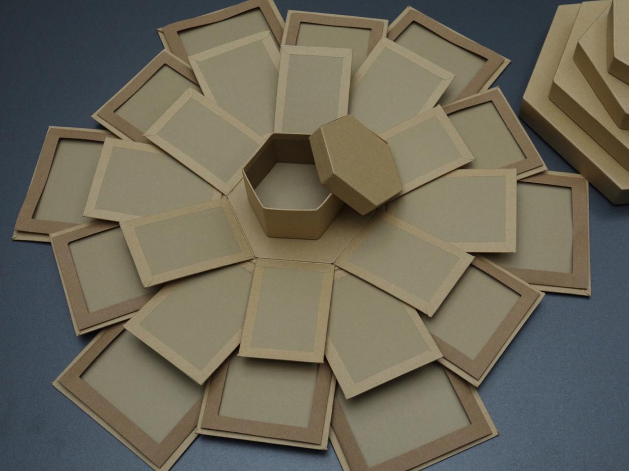 Коробка трансформер для фотографій. Крафт. 26х18см