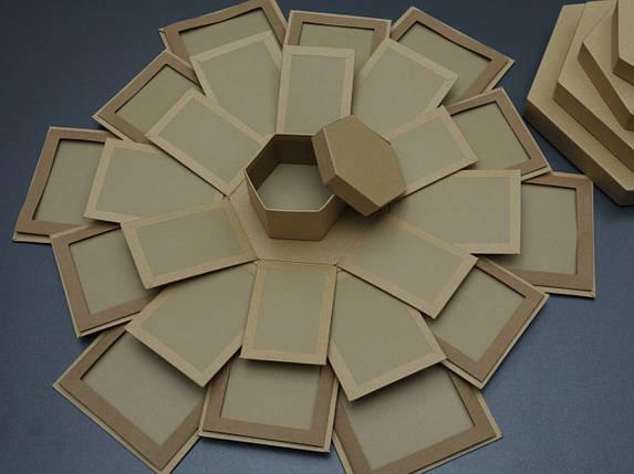 Коробка трансформер для фотографій. Крафт. 26х18см, фото 2