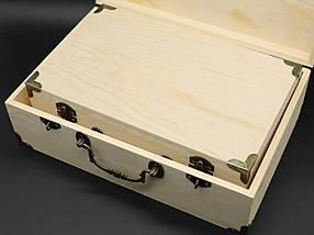 Скринька для декупажу з замком, завісами і ручкою. Три шт/комплект. 30х20х10см, фото 3