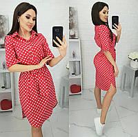 Сукня-сорочка в горошок жіноче (ПОШТУЧНО) M/44