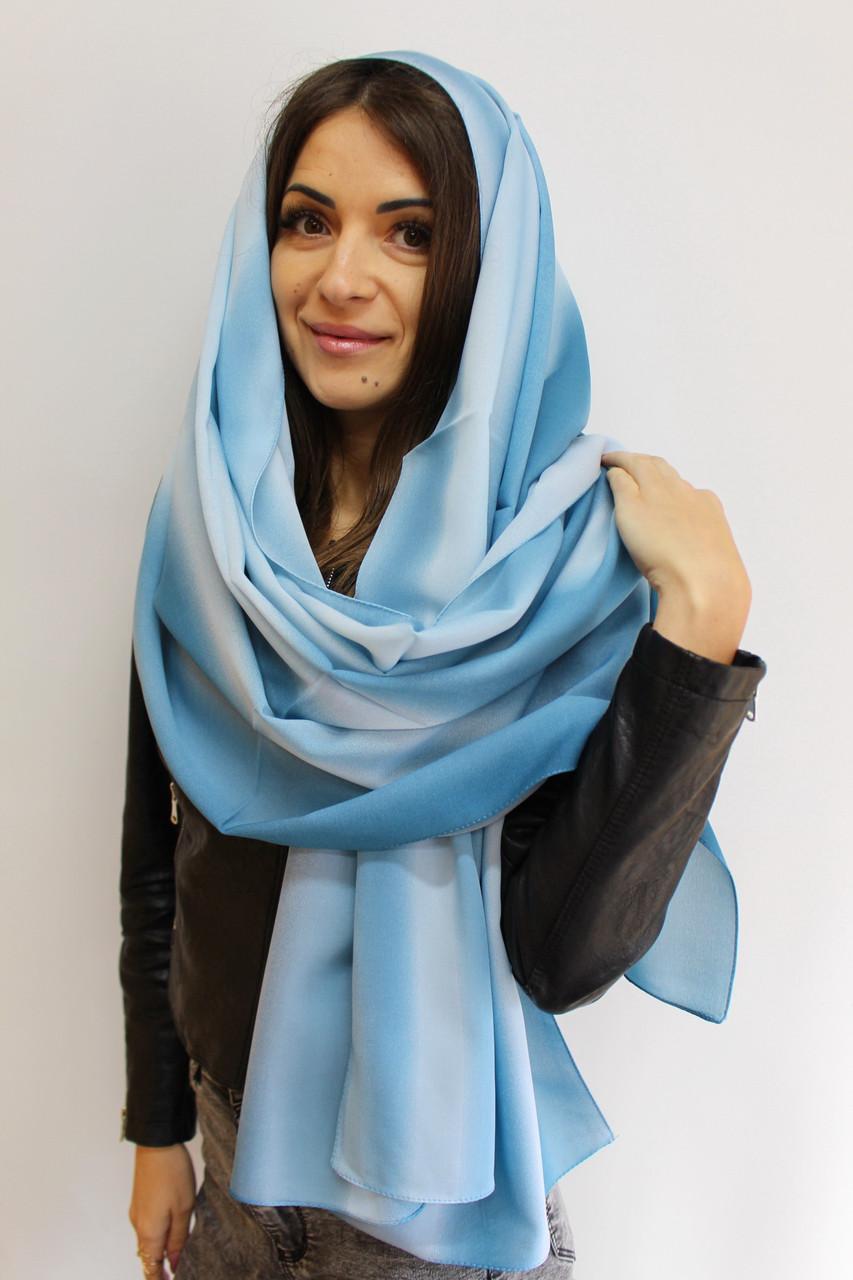 """Женский шифоновый легкий шарф """"Линда"""" (бирюзовый) 105003"""