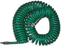Шланг спиральный полиуретановый 8*12мм L=10м  с переходниками