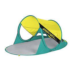 Пляжный тент SportVida 190 x 120 см SV-WS0007 Yellow/Green палатка пляжная желтого цвета