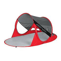 Пляжный тент складная SportVida 190 x 120 см SV-WS0009 Grey/Red палатка пляжная красного цвета