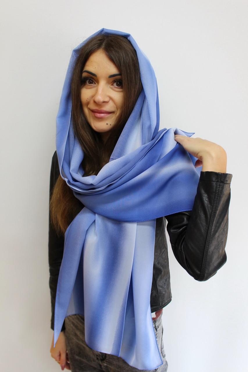 """Женский шифоновый шарф """"Линда"""" (синий) 105012"""