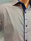 Мужская рубашка на кнопках с коротким рукавом S-2XL, фото 2